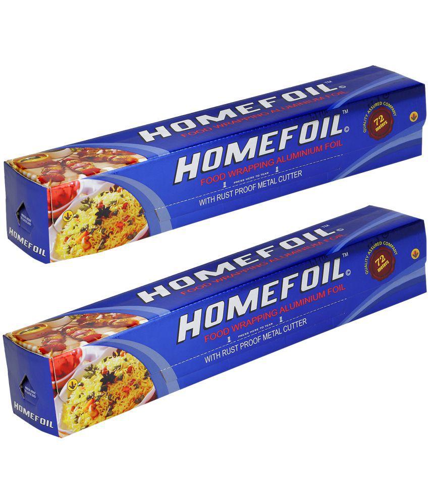 Homefoil Food Wrap Aluminium Foil (72 MTR) Pack of 2
