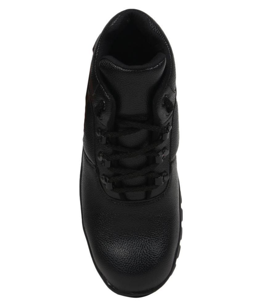 55928472af88 Buy Kavacha High Ankle Black Safety Shoes Online at Low Price in ...