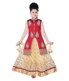 Saarah Multicolor Cotton Blend Lehenga Choli Set