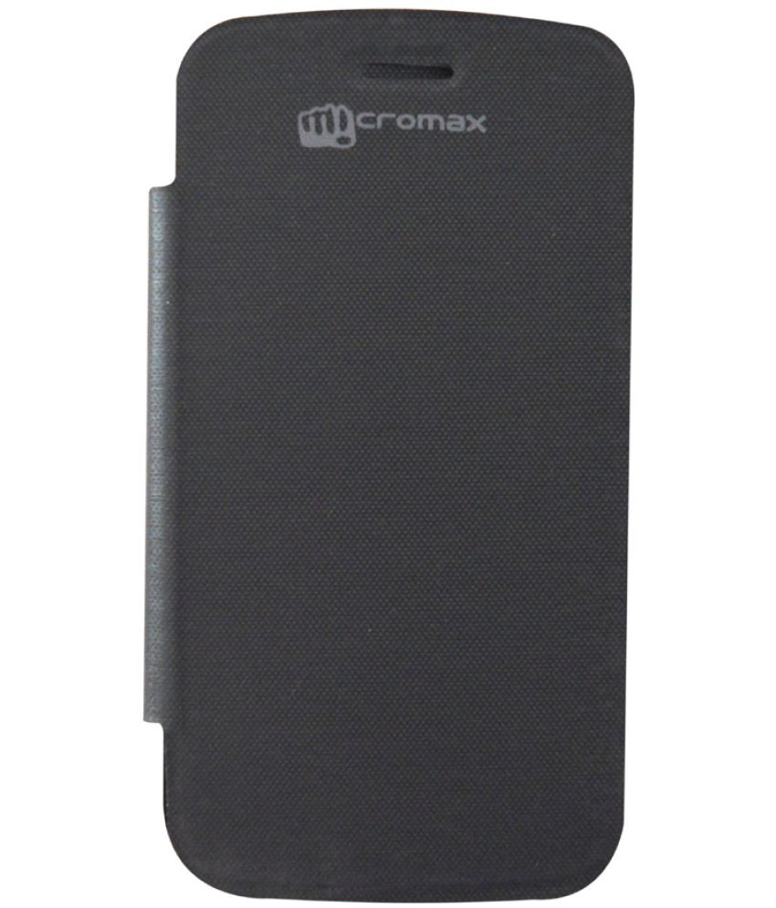 Micromax Bolt A47 Flip Cover by COVERNEW   Black available at SnapDeal for Rs.274