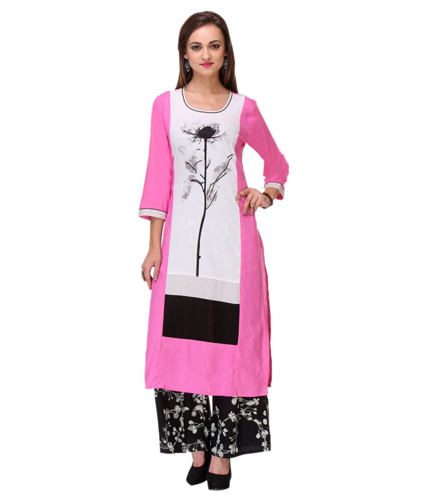 Chigy Whigy Multicoloured Rayon Straight Kurti