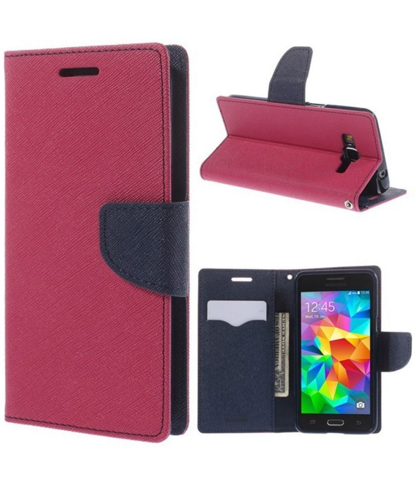 Lyf Flame 2 Flip Cover by Top Grade - Pink
