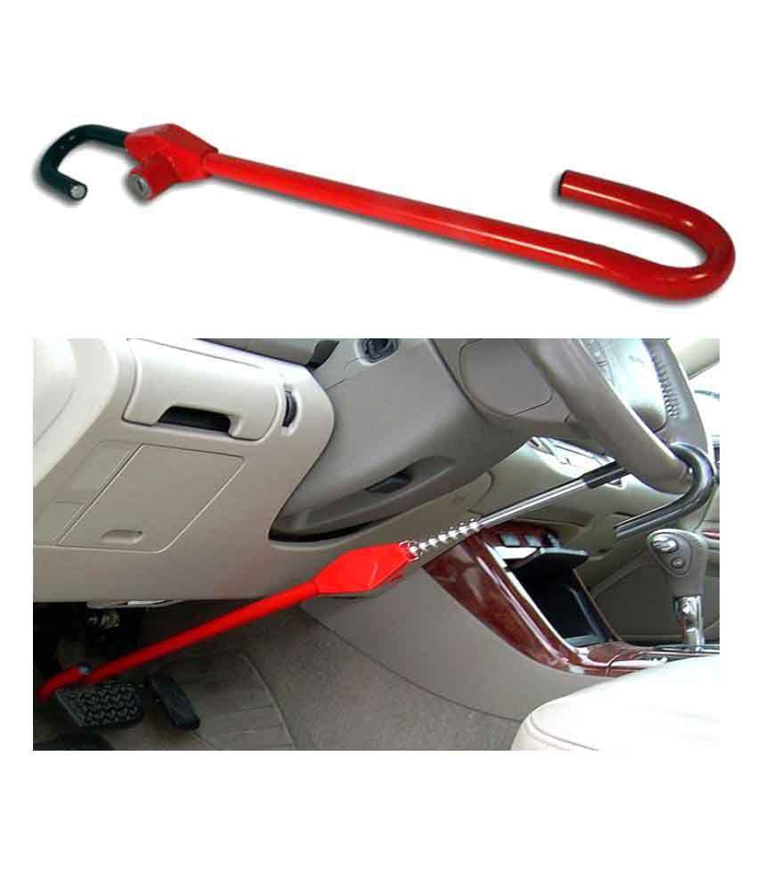 Ridar Pedal Steering Lock Red