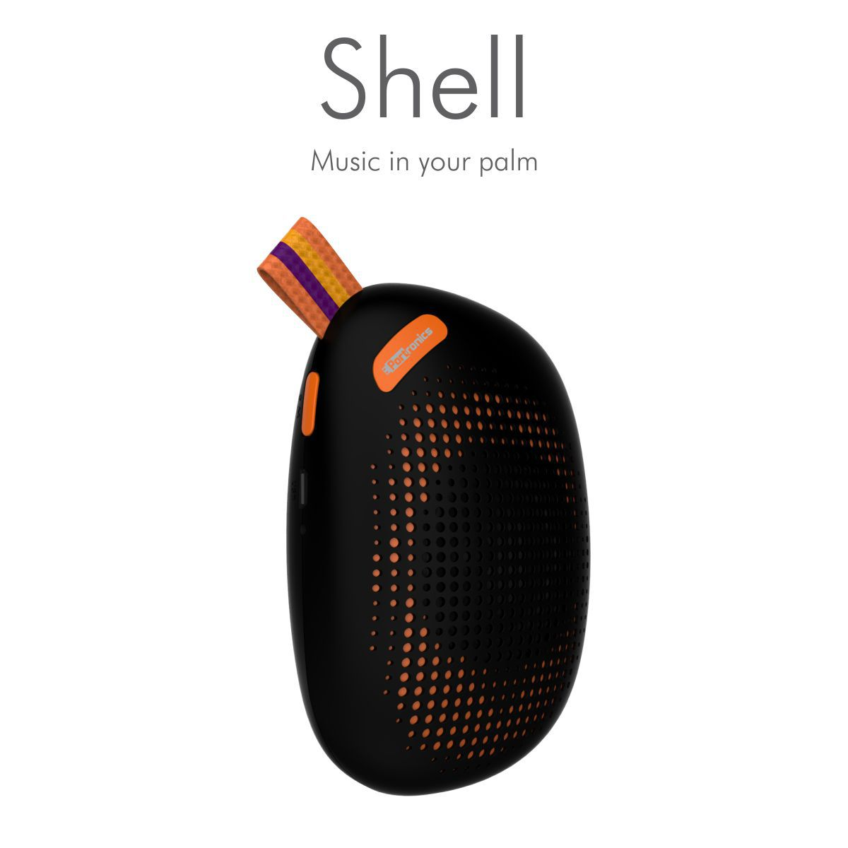 Portronics Shell Bluetooth Speaker - Black