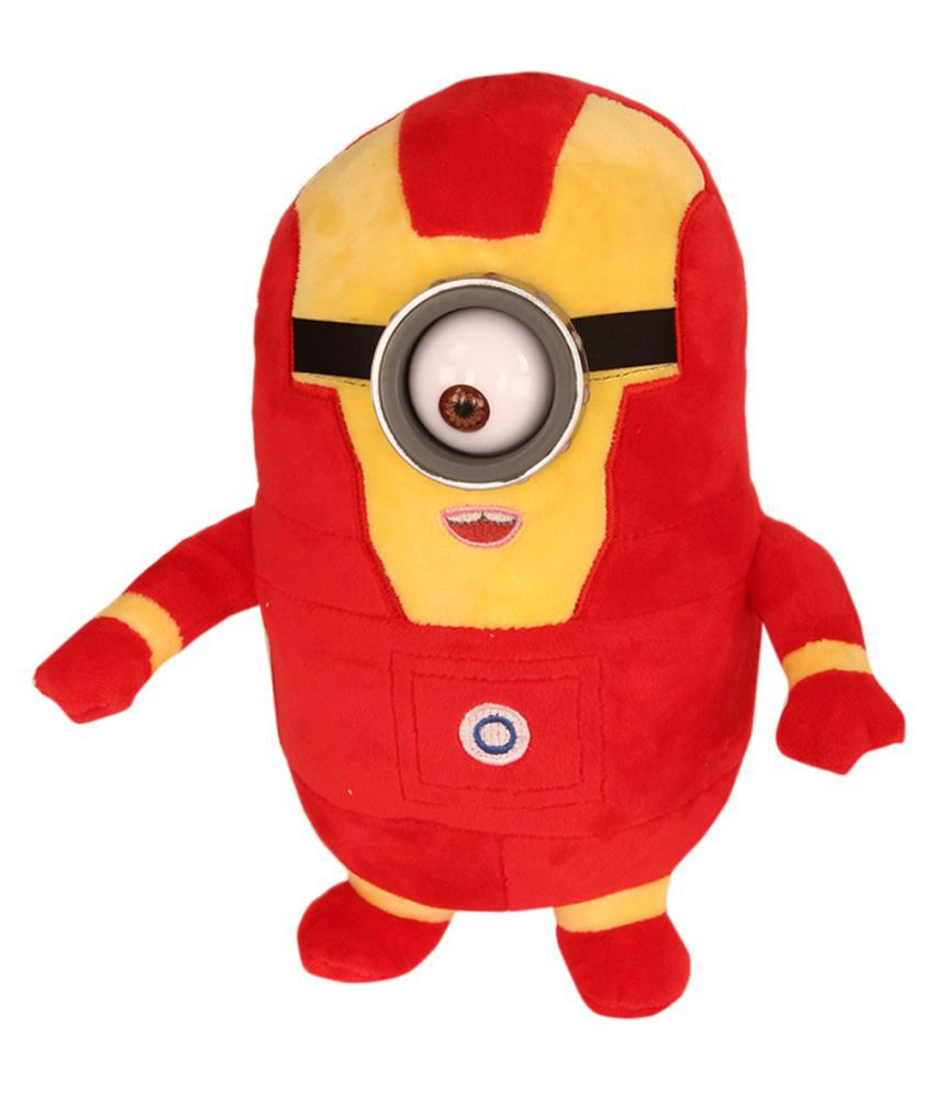 TLF Red Me Minions Plush Doll In Super Heroes Suit