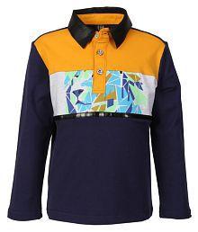 Lilliput Multicolour Cotton Spandex Polo T Shirt