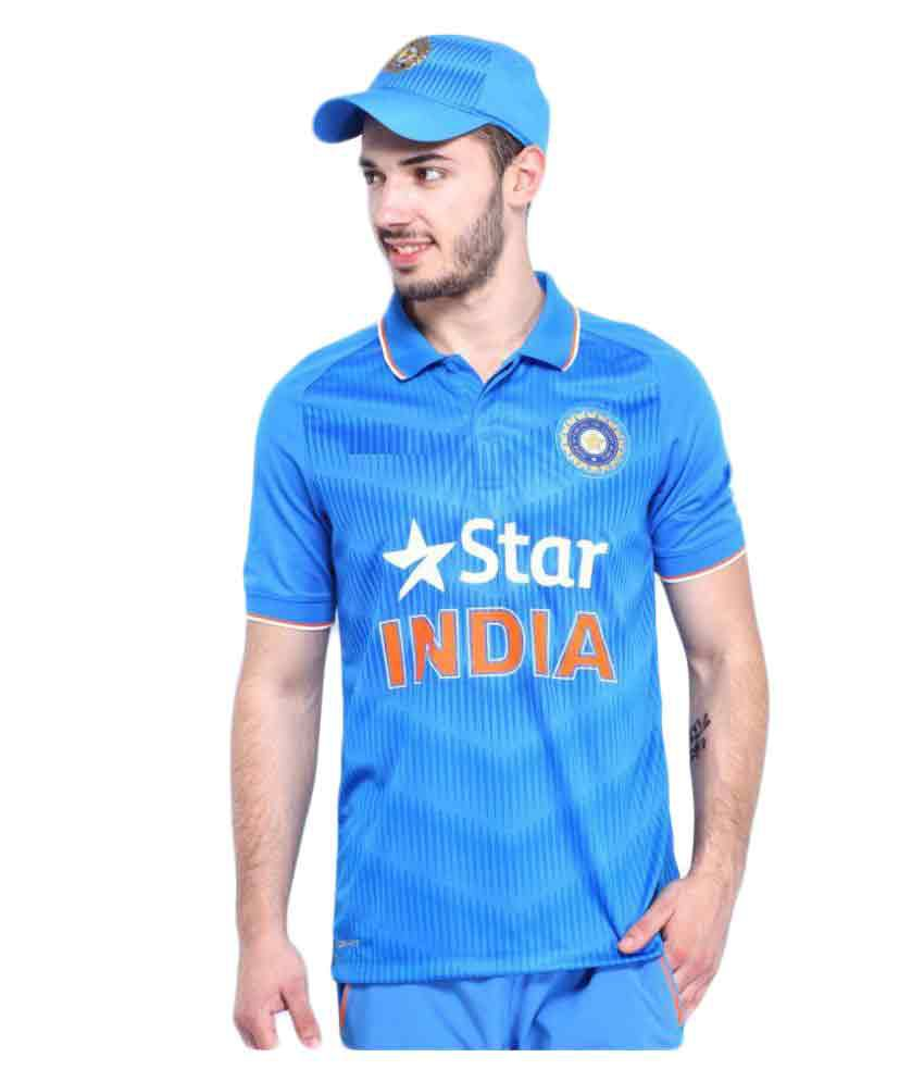 I Blue Polyester India Team Cricket Jersey