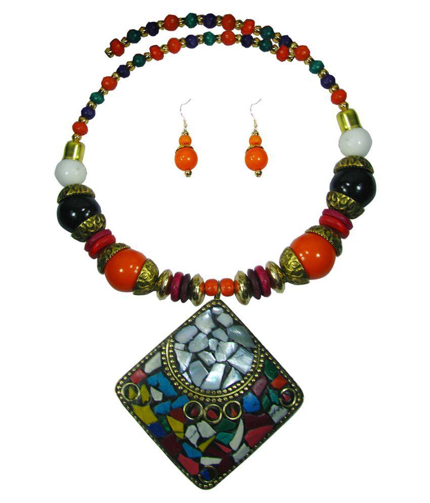 Collana Multicolor Alloy Necklace Set