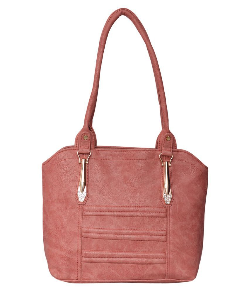 Trendy Collectionz PeachPuff P.U. Shoulder Bag