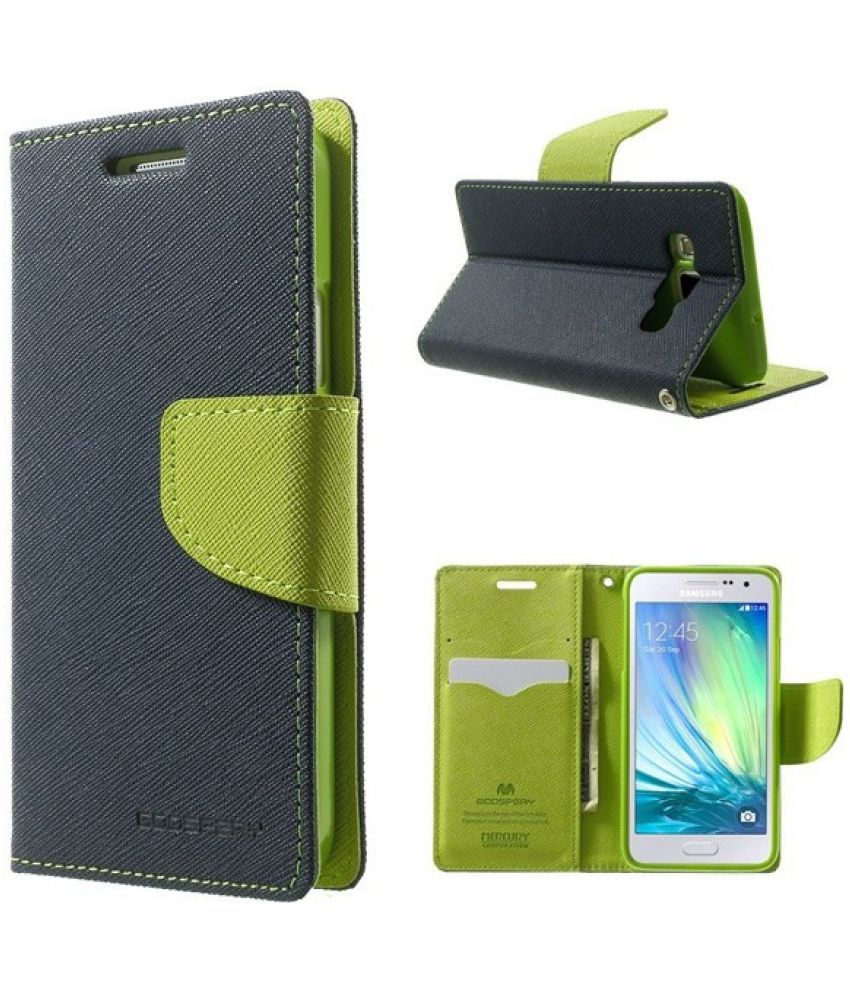 Lenovo A390 Flip Cover by VPS   Blue available at SnapDeal for Rs.399