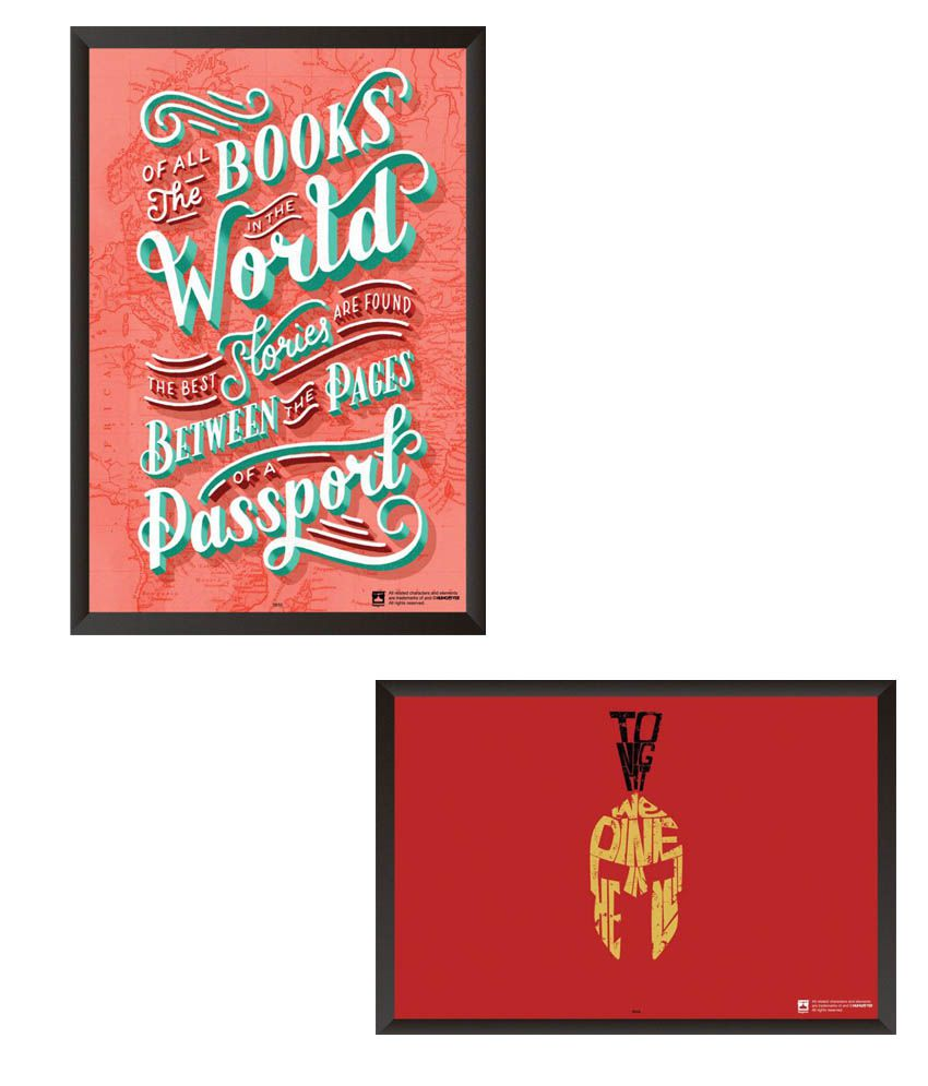 Hungover Paper Wall Poster With Frame Set of 2