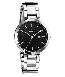 Titan Analog Steel Black Watch for Women - 2480SM08