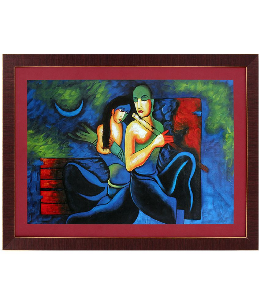Art N Hub Acrylic Painting With Frame Single Piece