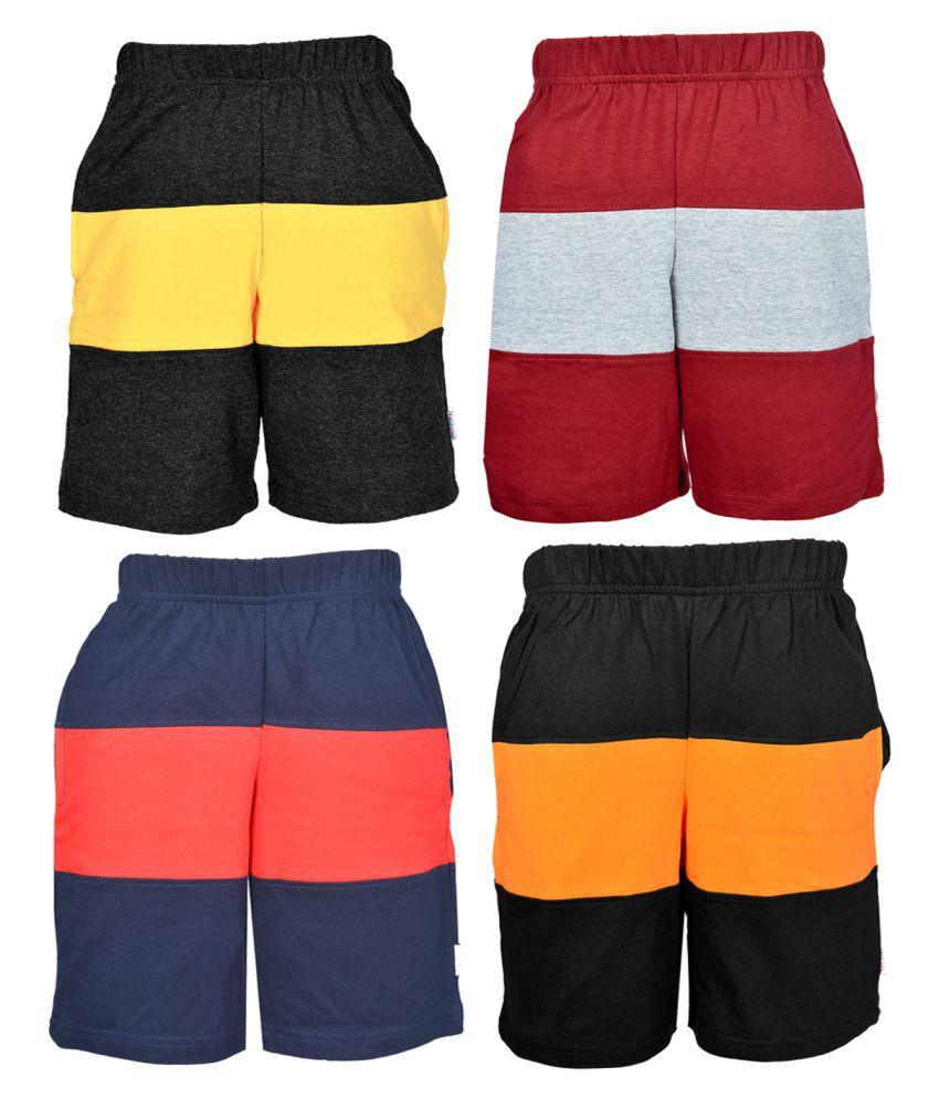 Gkidz Boys Multicolor Bermudas Pack Of 4