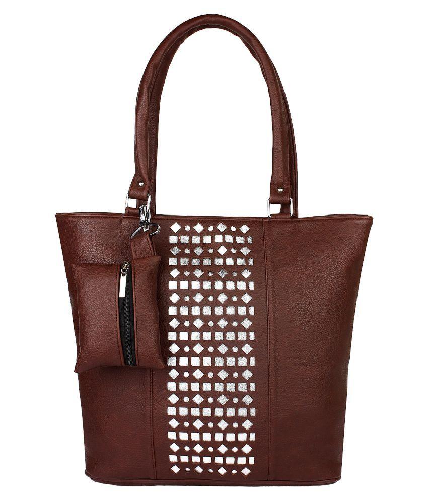 Ashman Brown Faux Leather Shoulder Bag