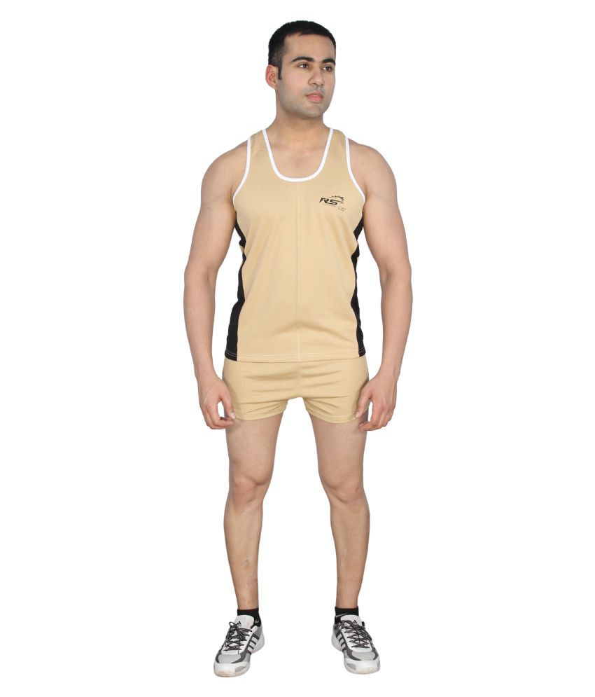 RS Sports Brown Polyester Active Wear