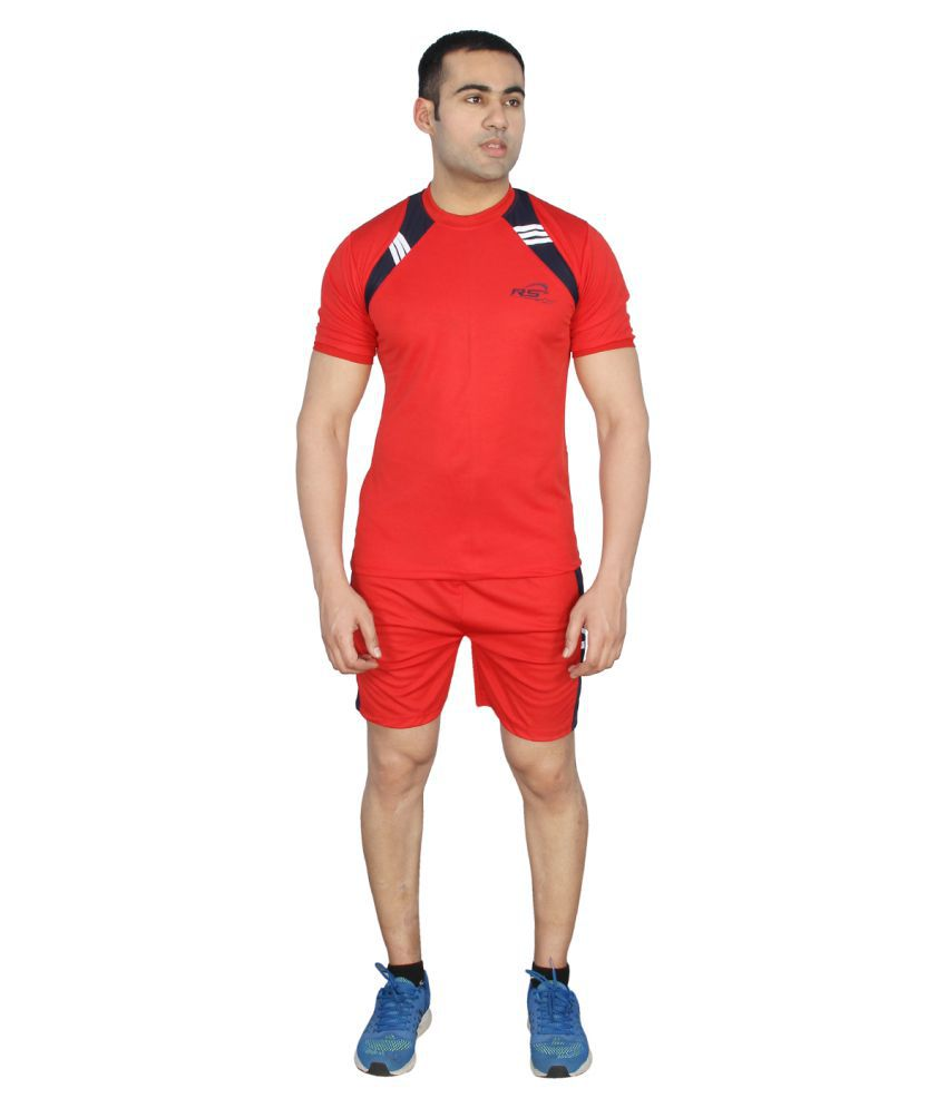 RS Sports Red Active Wear