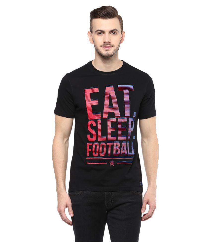 Ajile by Pantaloons Black Round T-Shirt