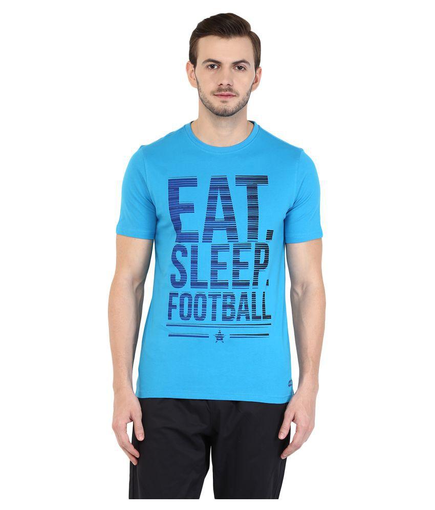 Ajile by Pantaloons Blue Round T-Shirt