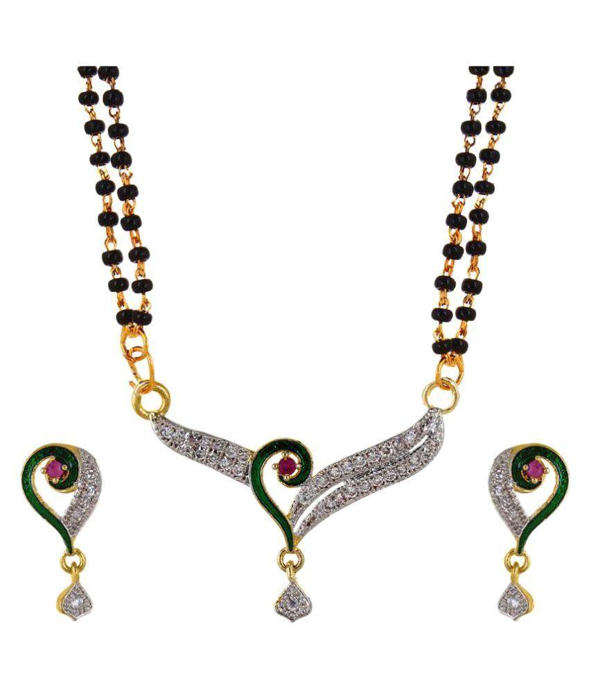 Curvyy Golden Mangalsutra Set