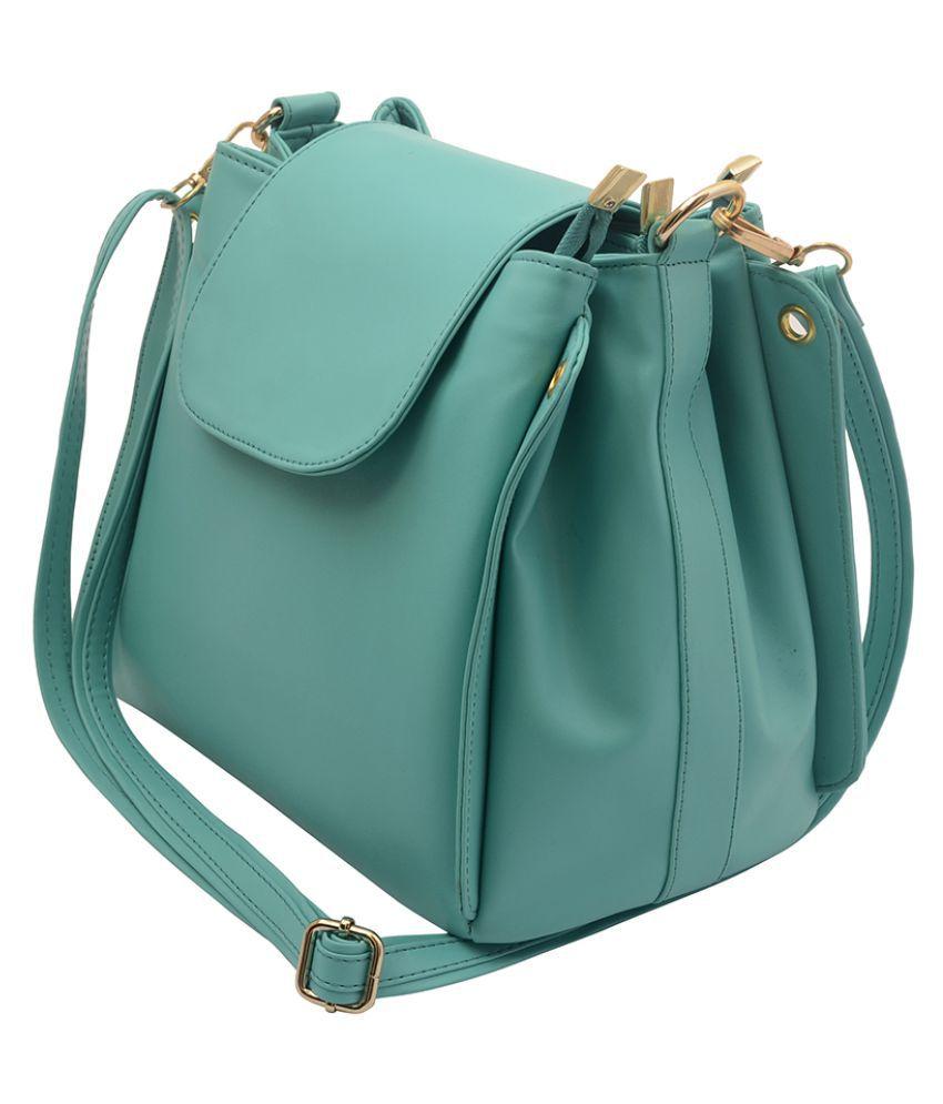 Lychee Bags Green P.U. Sling Bag - Buy Lychee Bags Green P.U. ...