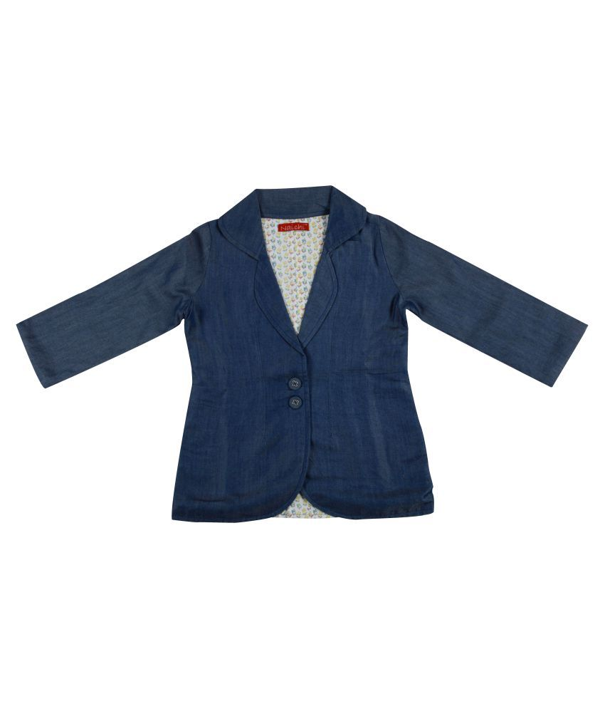 Naichi Blue Denim Blazer