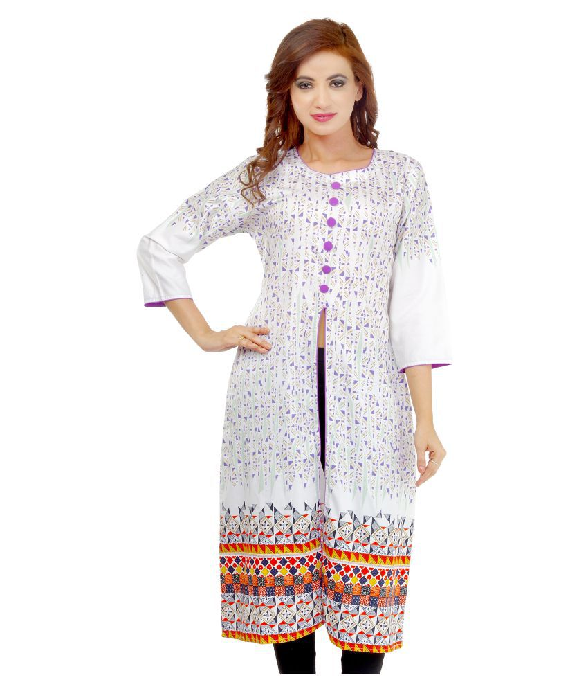 Ladybond Multicoloured Cotton Front Slit Kurti