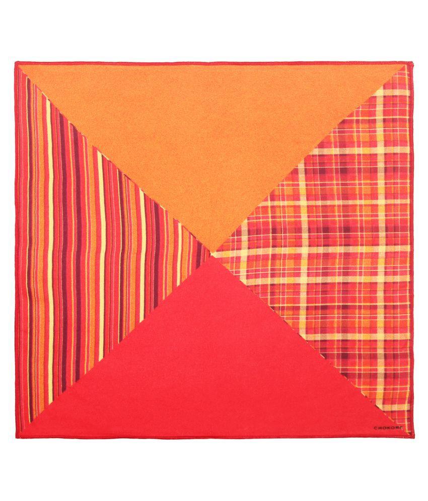 Chokore Multicolour Silk Pocket Square