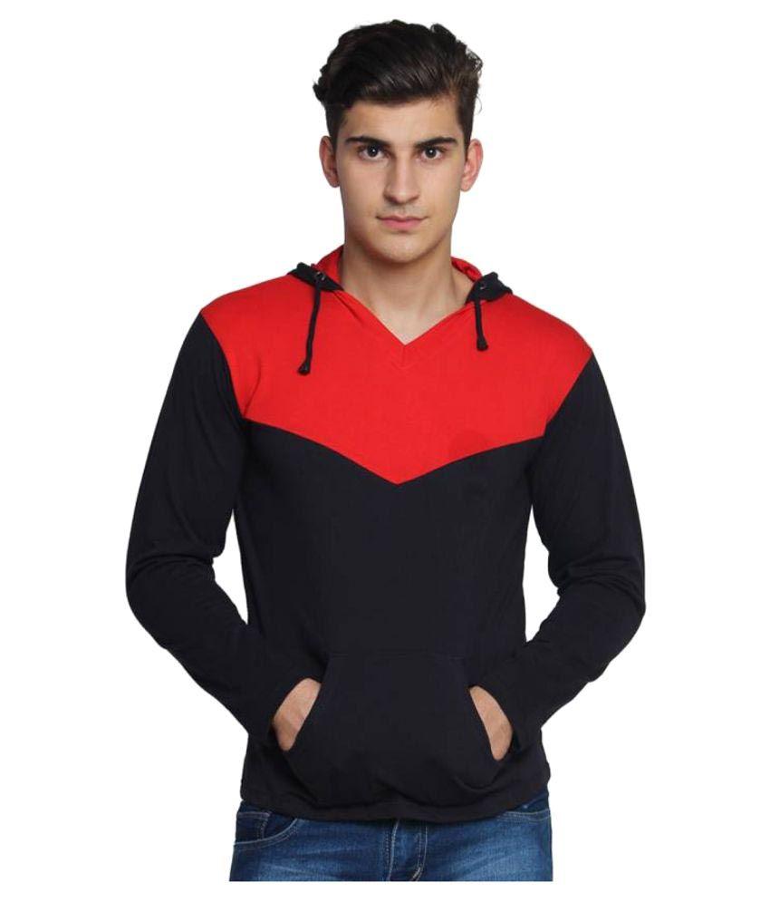 Own Style Black V-Neck T-Shirt
