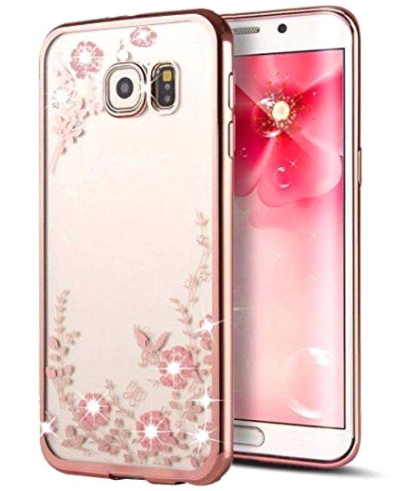 samsung galaxy j7 prime soft silicon cases fonovo rose gold plain back covers online at low. Black Bedroom Furniture Sets. Home Design Ideas