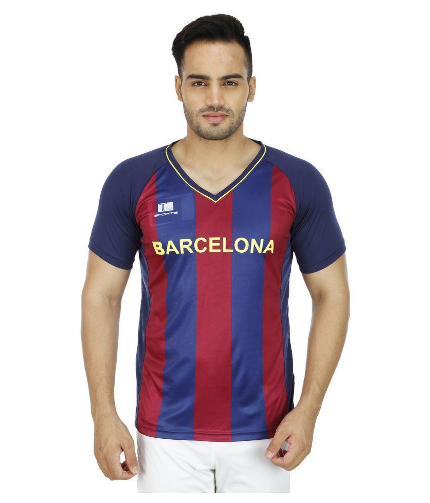 T10 Sports Multi Cotton Lycra T-Shirt