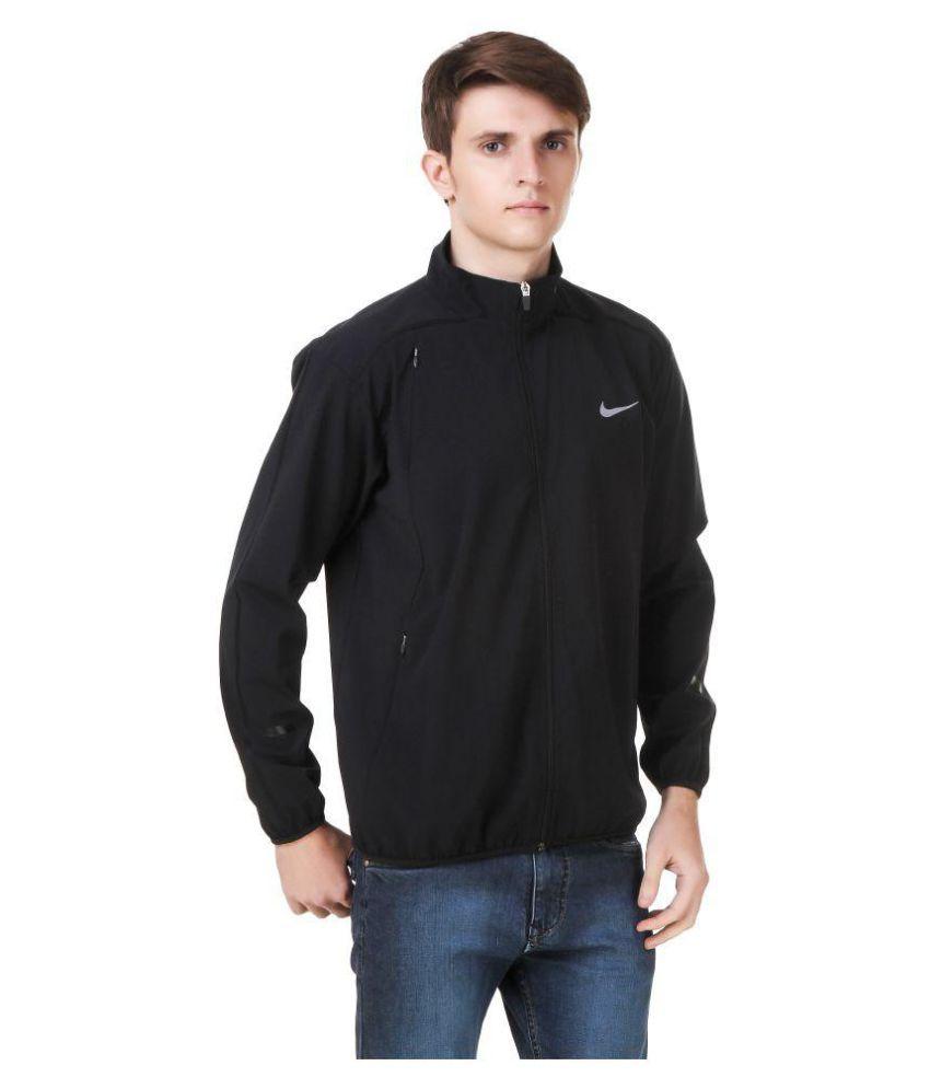 3ea203753f89 Nike Black Polyester Terry Jacket - Buy Nike Black Polyester Terry ...