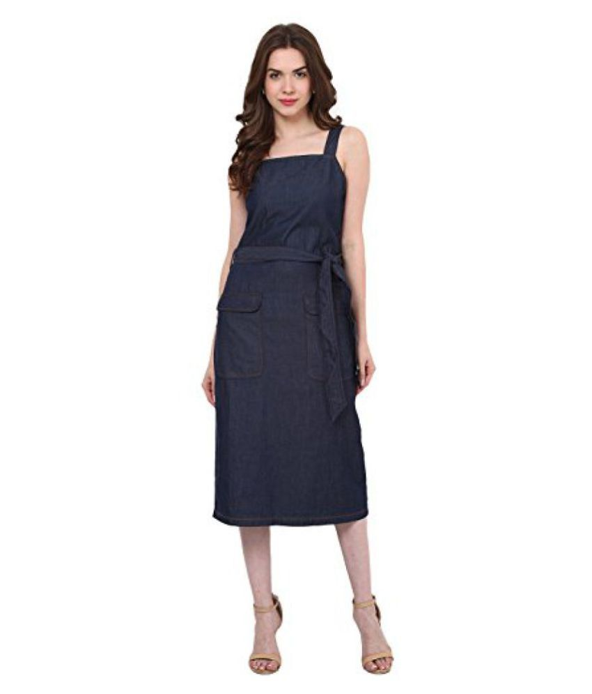 ca1ec084778e Blue Denim Midi Dress - Buy Blue Denim Midi Dress Online at Best Prices in  India on Snapdeal
