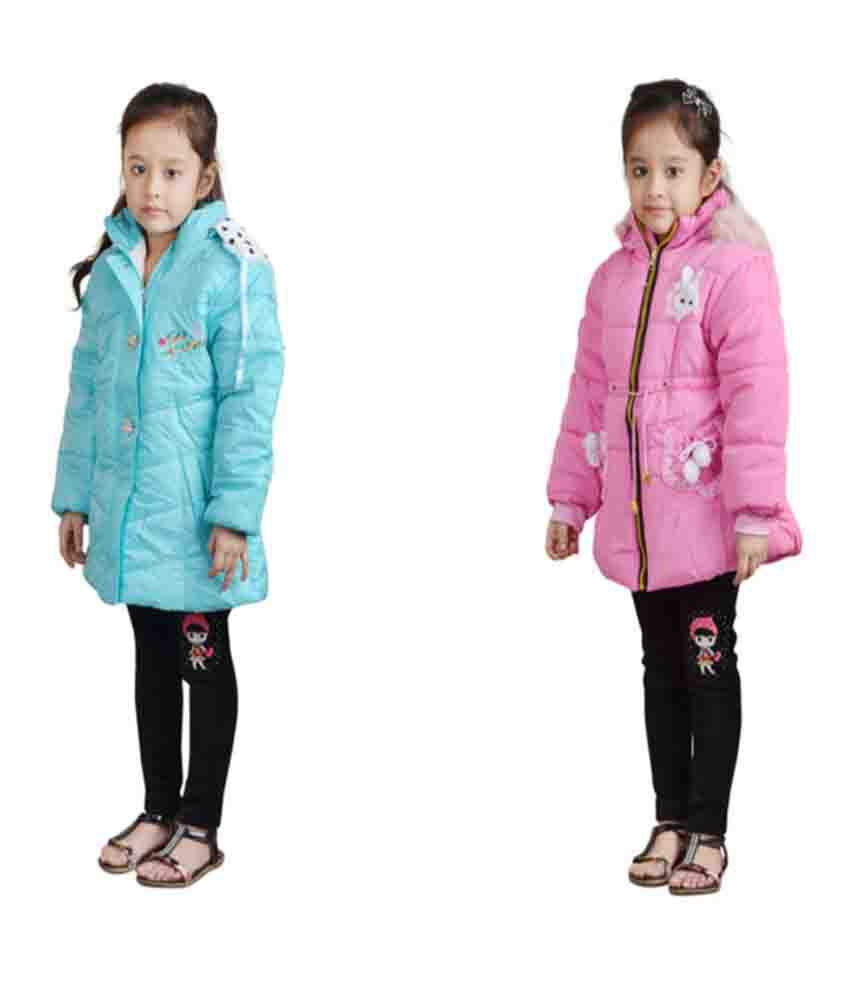 Crazeis Multicolour Nylon Quilted & Bomber Pack of 2