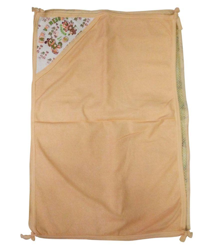 Gold Dust Orange Swaddle cloth Baby Wrap cum blanket ( 75 cm × 50 cm - 1 pcs)