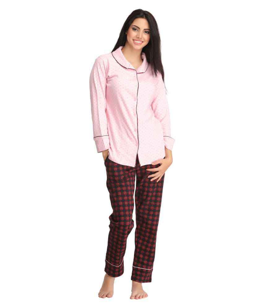 3ec9be170f Buy Clovia Cotton Nightsuit Sets Online at Best Prices in India - Snapdeal