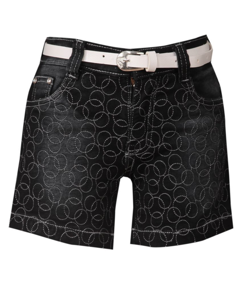 FCK-3 Denim Shorts for Girls