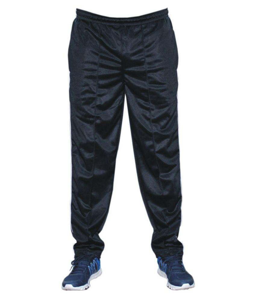 Store At Ur Door Black Polyester Trackpant
