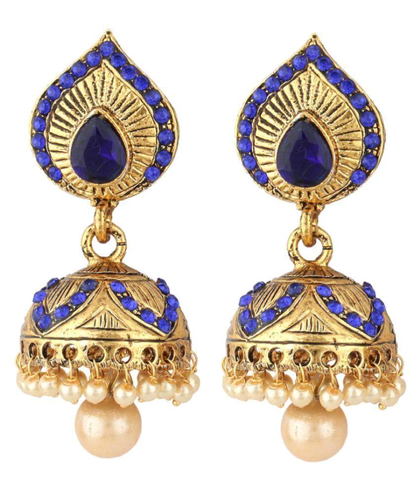 Styylo Fashion Multicolour Alloy Jhumki Earrings