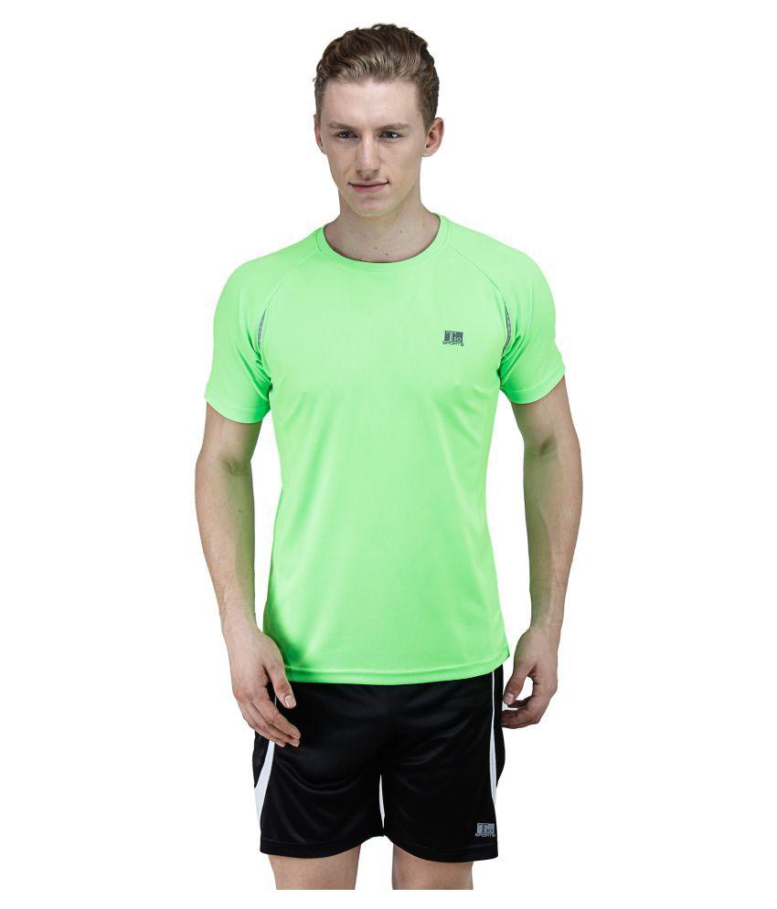T10 Sports Green Cotton Lycra T-Shirt