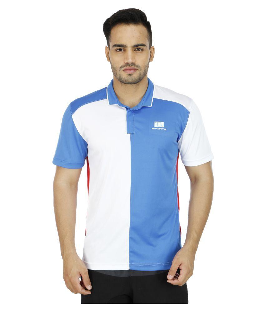T10 Sports Multi Cotton Lycra Polo T-Shirt