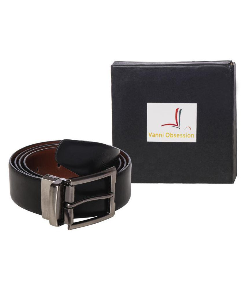 Vanni Obsession Black Leather Casual Belts