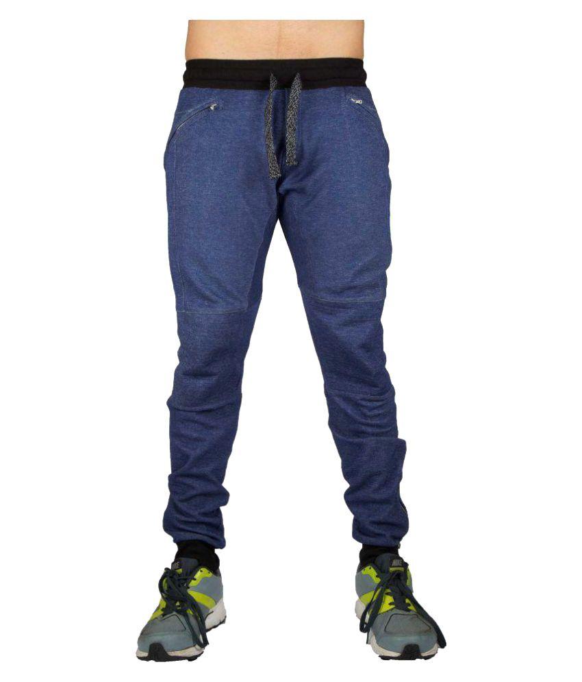 Aesthetic Nation Blend Dark Blue Track Pant