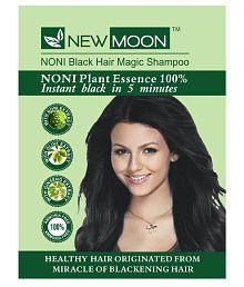 New Moon Noni Black Shampoo, Black Permanent Hair Color Black Black 15 Ml Pack Of 10