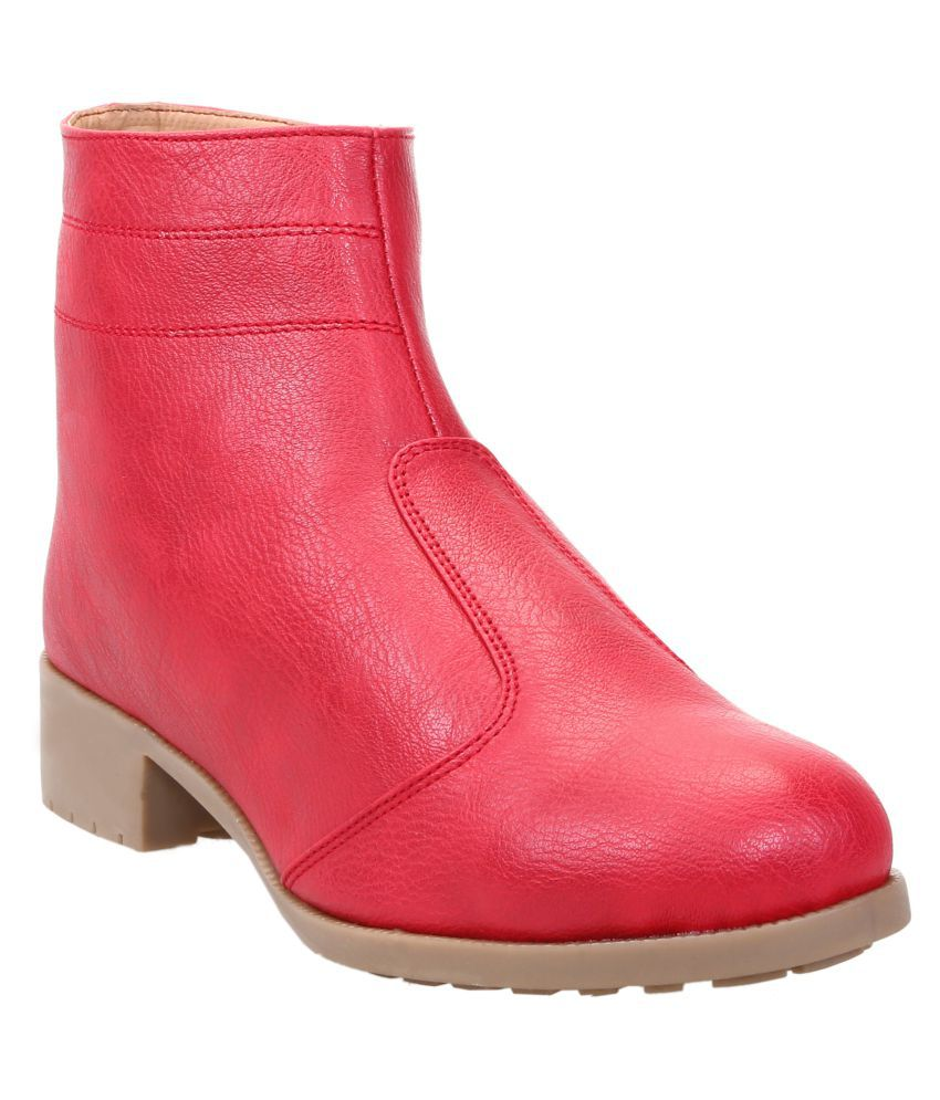 58d321372 Catbird Pink Ankle Length Bootie Boots available at SnapDeal for Rs.899