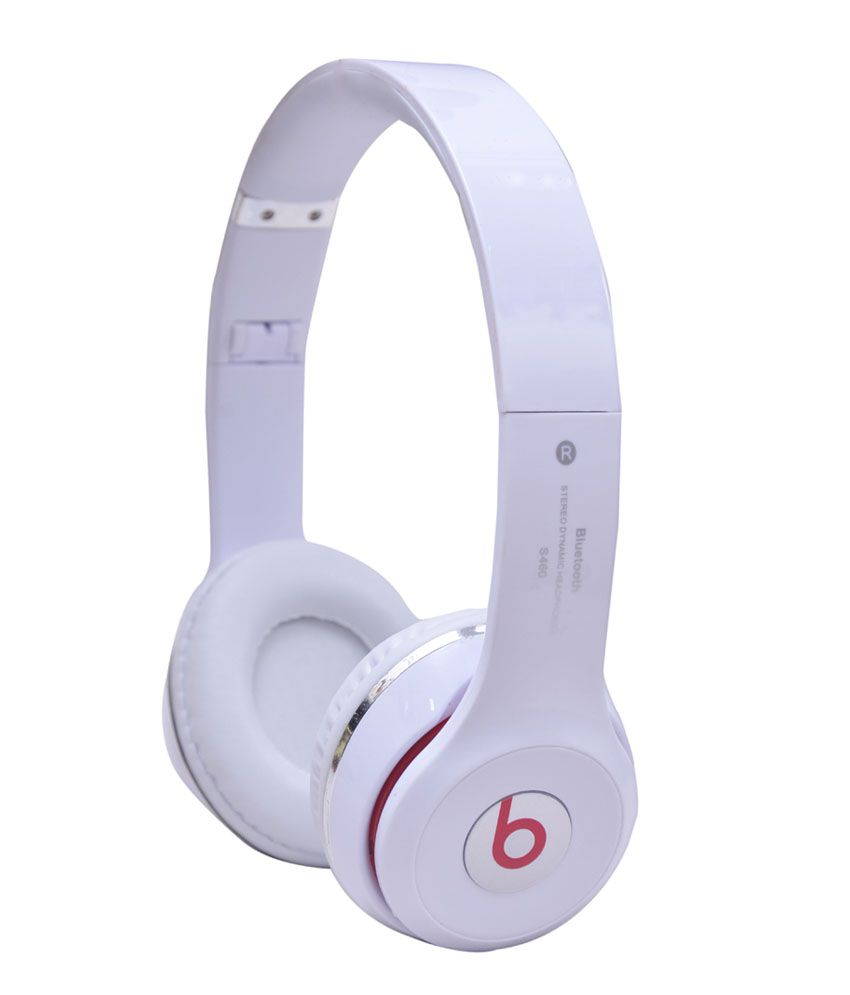 Life Like S460 Bluetooth Headphones - White with Mic & TF Card Support