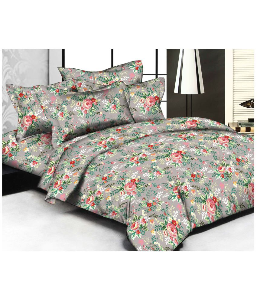 Marvelous Cannon Double Cotton Multi Printed Bed Sheet