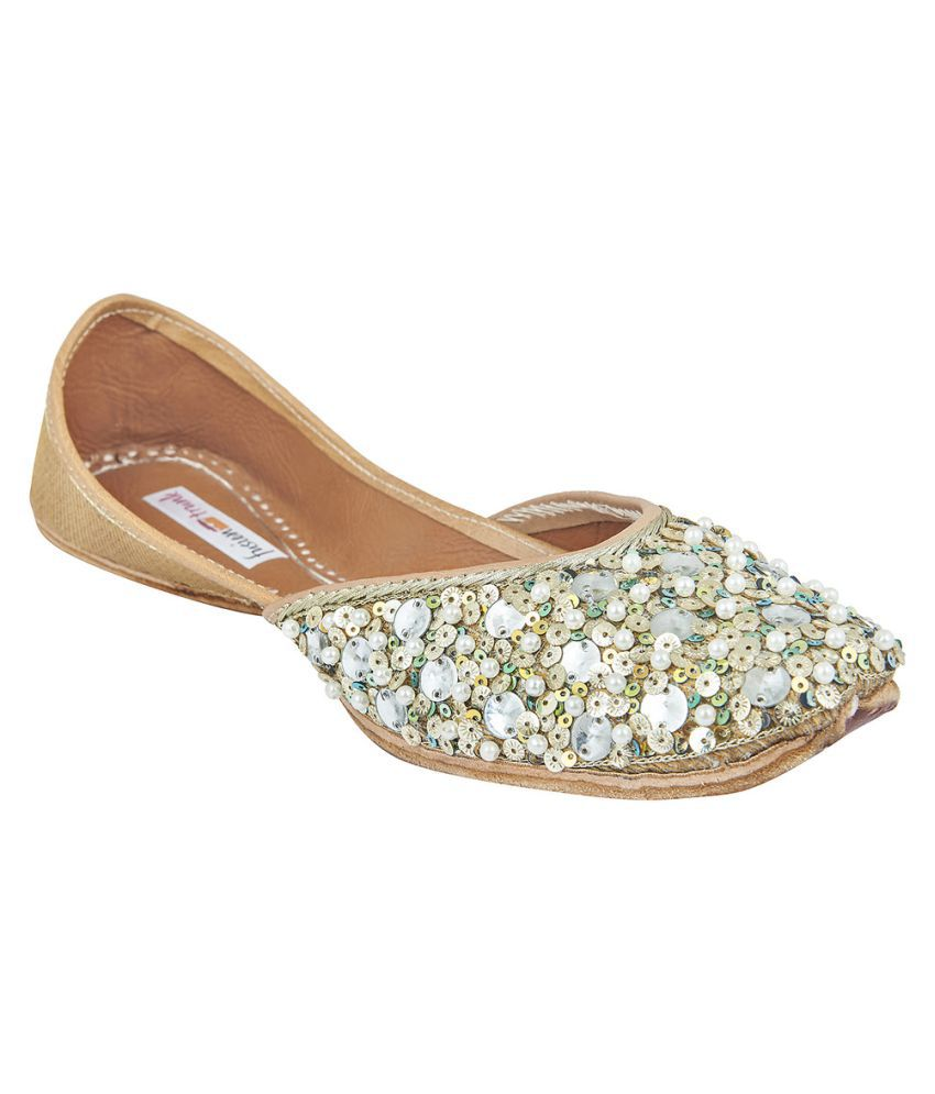 Fusion Trunk Gold Flat Ethnic Footwear