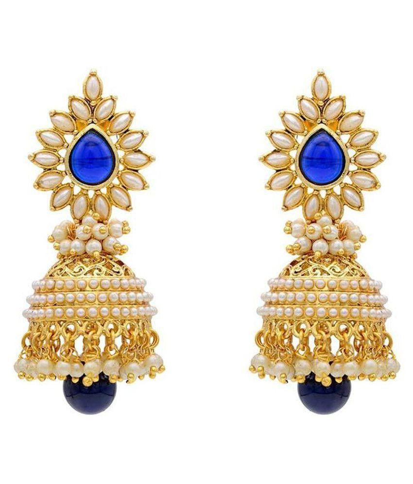 Jewels Gold Multicolor Jhumki Earrings