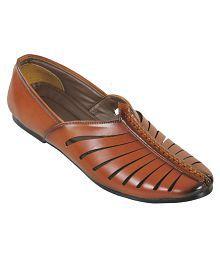 Kolapuri Centre Tan Designer Shoe